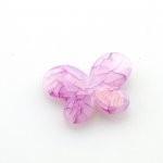 Kunststof kraal vlinder fuchsia 29 x 21 mm