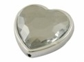 Kunststof hartkraal transparant facet 28 x 29 mm