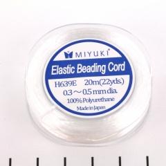 Miyuki elastiek koord - 0.4 mm wit