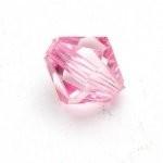 Kunststof facet kraal roze 14 mm