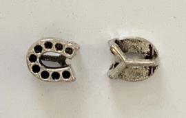 Metalen schuifkraal hoefijzer 12 mm