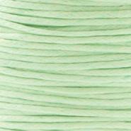 Waxkoord Crysolite Green 1,0 mm