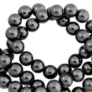 Hematite kralen rond 6mm Anthracite grey