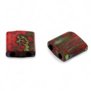Miyuki Tila 5 x 5 mm Kralen - 4521 Opaque picasso red