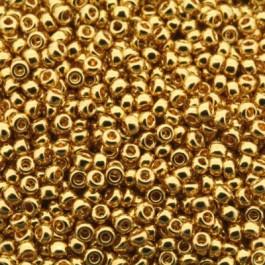 Miyuki Rocailles 11/0 0191 24kt Gold Plated per 2½ gram