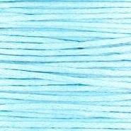 Waxkoord Light aqua 1,0 mm