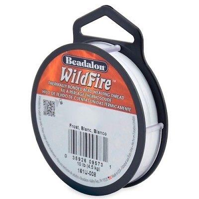 Beadalon Wildfire wit (frost) 0,15 mm / 18,3 meter