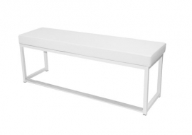 Kubo Bank 46 cm hoog wit (kunstleder)