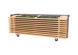Transportkar voor 10 bietafels en Ocean 220 x 76 cm
