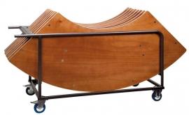 Transportkar voor 8 klaptafels Wave