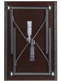 Frameset U-beugel 65 cm breed hamerslag grijs