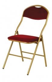 Klapstoel Super De Luxe gelakt goud / rood