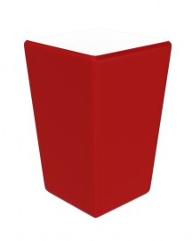 Statafel Conic 70 x 70 cm Rood