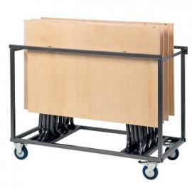 Transportkar voor 7 klaptafels S-beugel