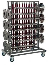 Transportkar voor 16 afzetpalen Elegance met koorden