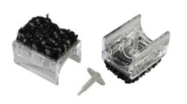 10-6470 Chairfixx ø32 mm transparant met verwijderbare pin