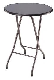Statafel Favoriet Hoog Ø 85 cm, hamerslag grijs frame