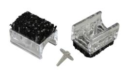 10-6450 Chairfixx ø28 mm transparant met verwijderbare pin