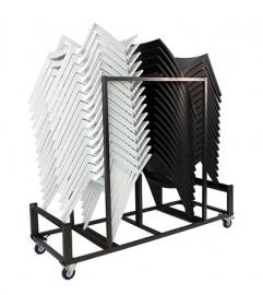 Transportkarren voor kunststof stapelstoelen
