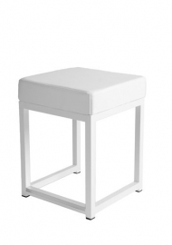 Kubo Cube 46 cm hoog wit (kunstleder)
