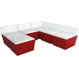 Conic Lounge 70 x 70 cm Rood