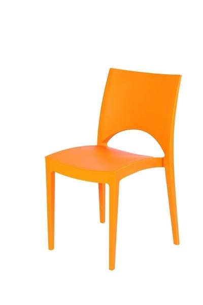 Stapelstoel June oranje