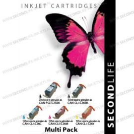 2 x Canon voordeel Multipack  PGI-525 - 526BK