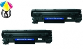 2 x HP toner CB 436A Black