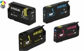HP-950BK XL inktcartridges (4 pack)