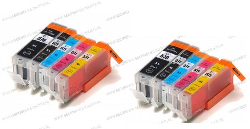 2 x Canon voordeelset PGI-570 - CLI-571