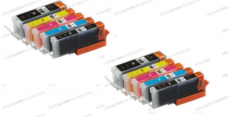 2 x Canon voordeelset PGI-550 - CLI-551BK
