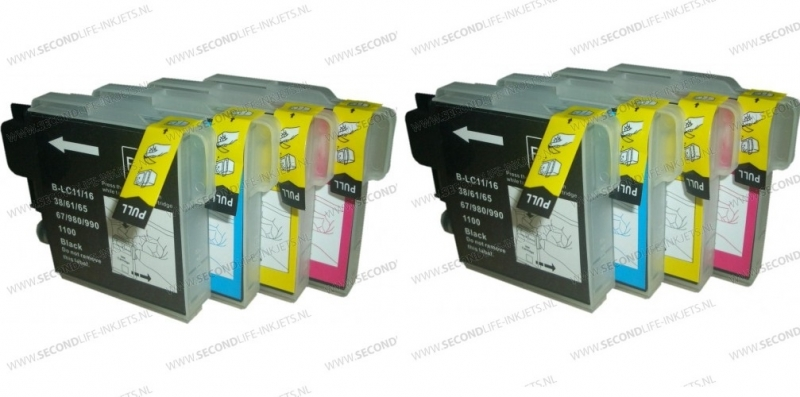 2 X Multipack Brother LC 980 /1100 BK C M Y XL