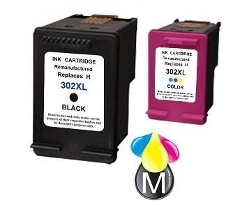 Set HP-302BK XL inktcartridges