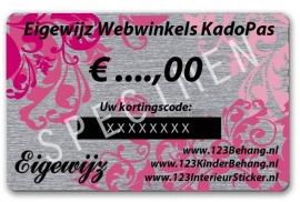 € 00,00 Euro Eigewijz webwinkels kadopas