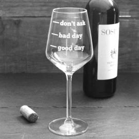 Wijnglas sticker