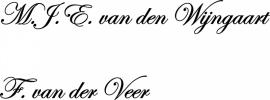 M.J.E. van den Wijngaart  F. van der Veer