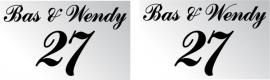 Bas & Wendy 27 + set 12 stuks eigen ontwerp