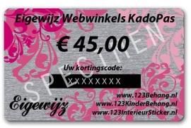 € 45,00 Euro Eigewijz webwinkels kadopas