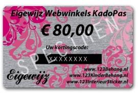 € 80,00 Euro Eigewijz webwinkels kadopas