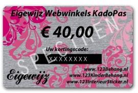 € 40,00 Euro Eigewijz webwinkels kadopas