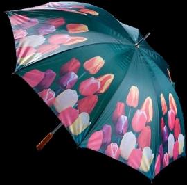 Paraplu met gemengde tulpen