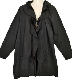 MONA LISA Aparte zwart gebreid vest 50
