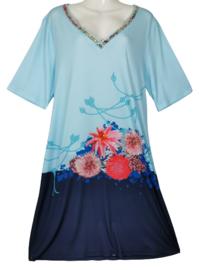 DIVERSA Mooie stretch zomer jurk 50-52