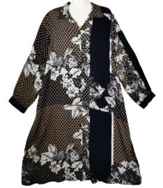 ZOEY Trendy wijde viscose jurk 50-52