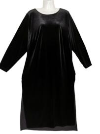 MAT FASHION Aparte stretch velvet jurk 44-46