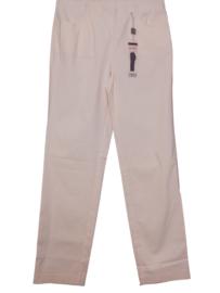 ADELINA Trendy roze stretch broek 42-44