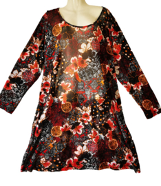 OPHILIA Trendy mesh stretch jurk 50