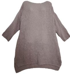 ESPRIT Mooie lange grof gebreide trui/jurk  46-48