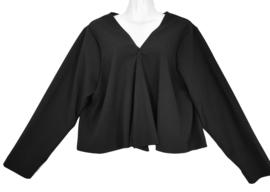 STUDIO Trendy stretch tricot vest/jasje 50-52 (zwart)
