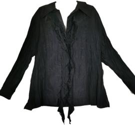 APRICO Leuke krinkel blouse met kant 50